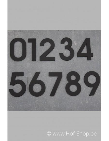 Nummer 1 - zwart inox 5 cm hoog
