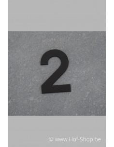 Nummer 2 - zwart inox 5 cm hoog