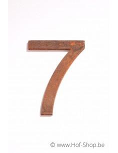 Nummer 7 - cortenstaal 10 cm hoog (Ari)