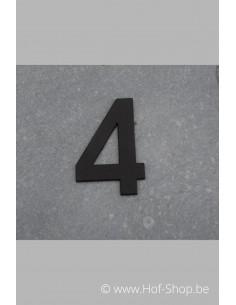 Nummer 4 - zwart inox 5 cm hoog