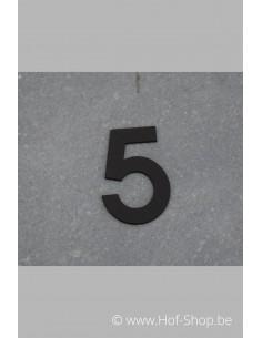 Nummer 5 - zwart inox 5 cm hoog
