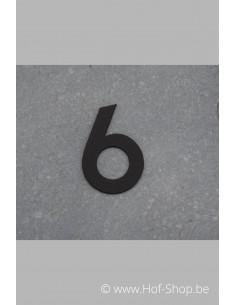 Nummer 6 - zwart inox 5 cm hoog