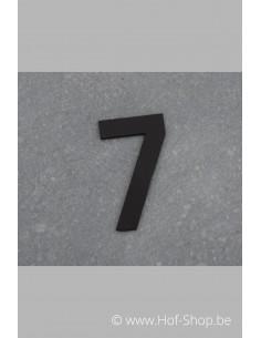 Nummer 7 - zwart inox 5 cm hoog